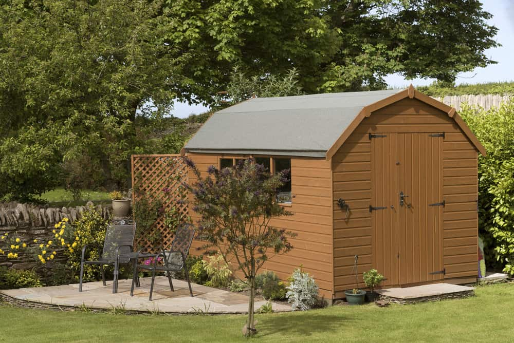 Shed designed with shed design software