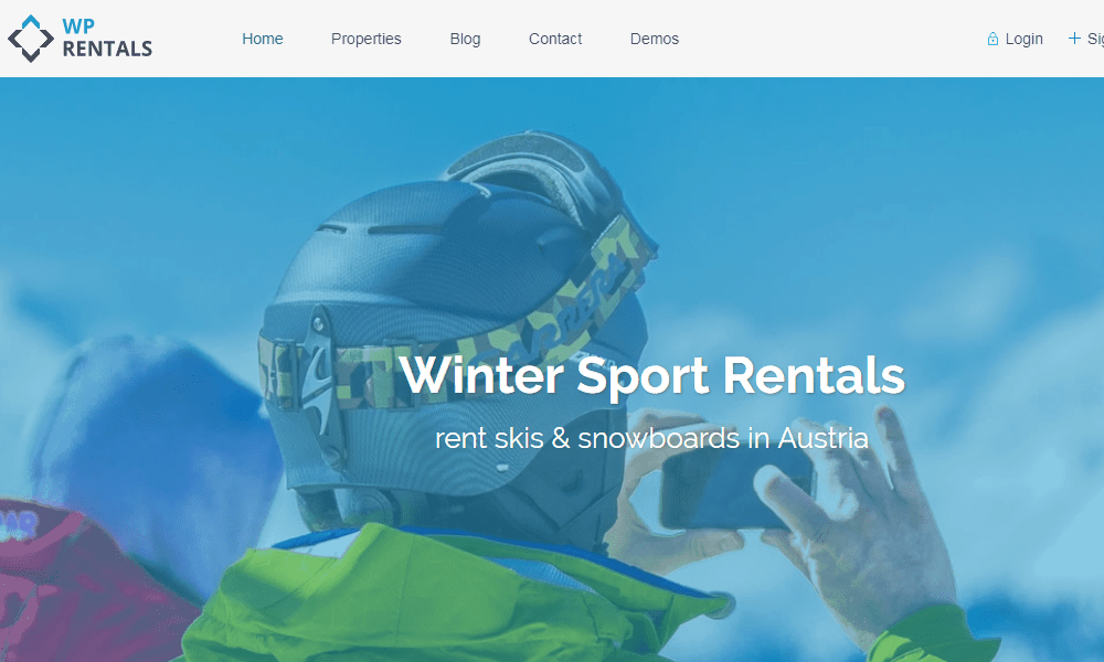 WP Rentals Real estate WordPress Theme