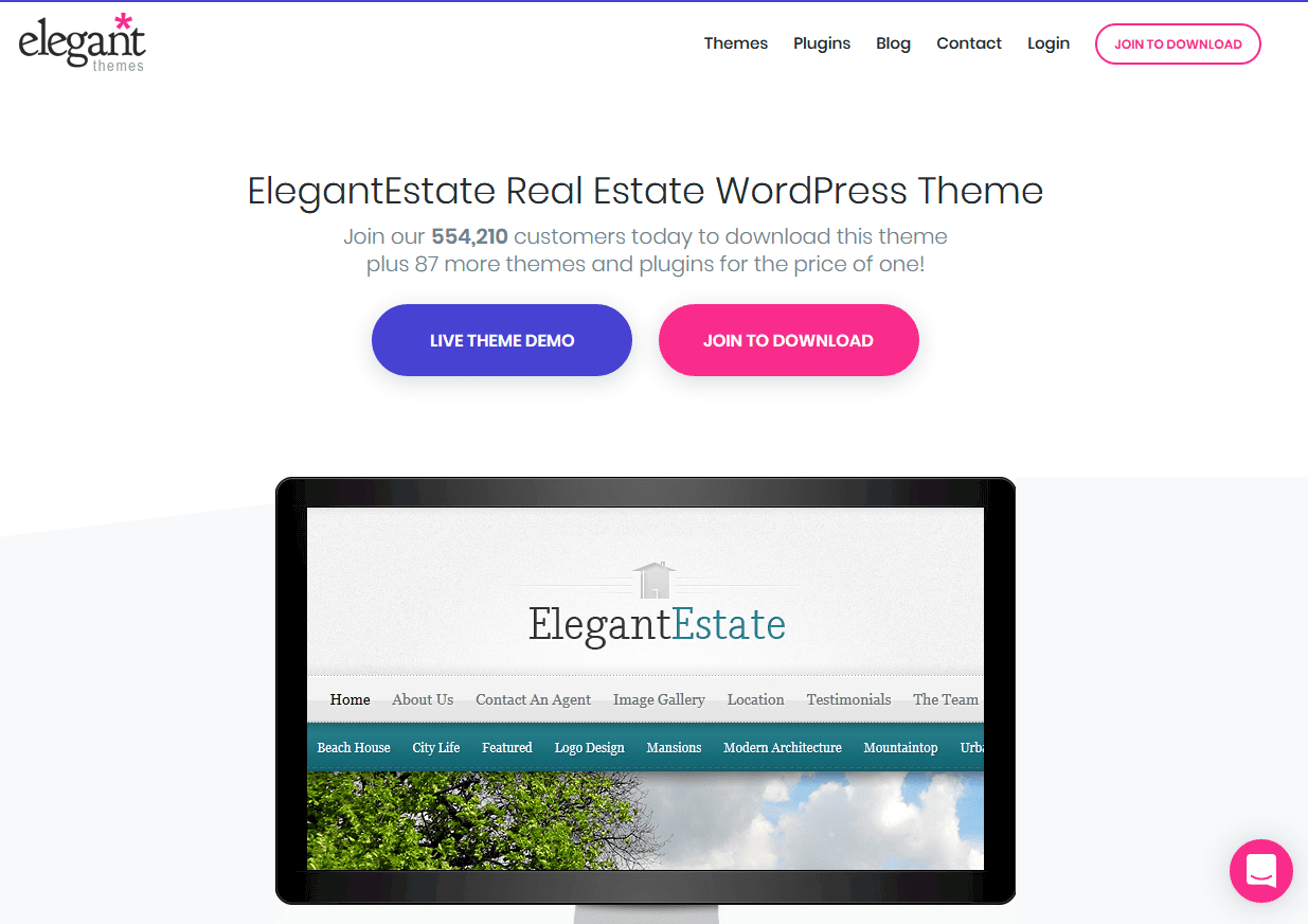 ElegantEstate Real Estate Web Design