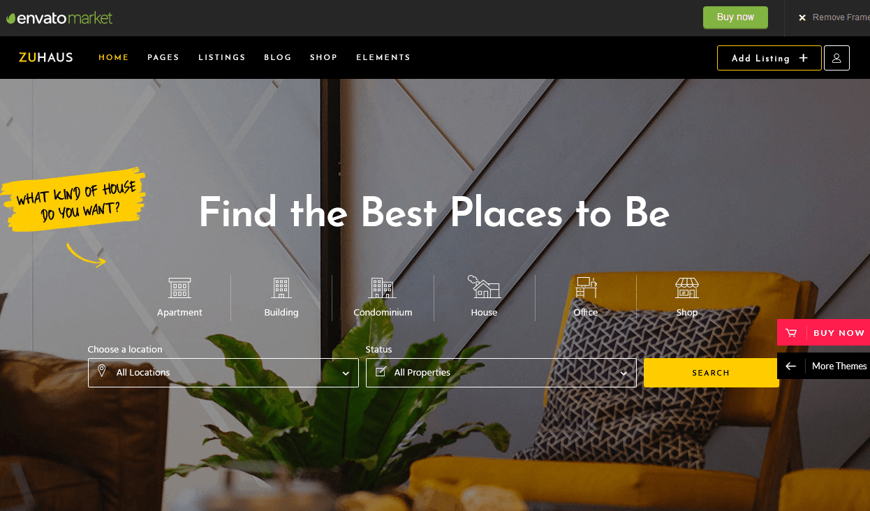 Zuhaus Real Estate WordPress Theme
