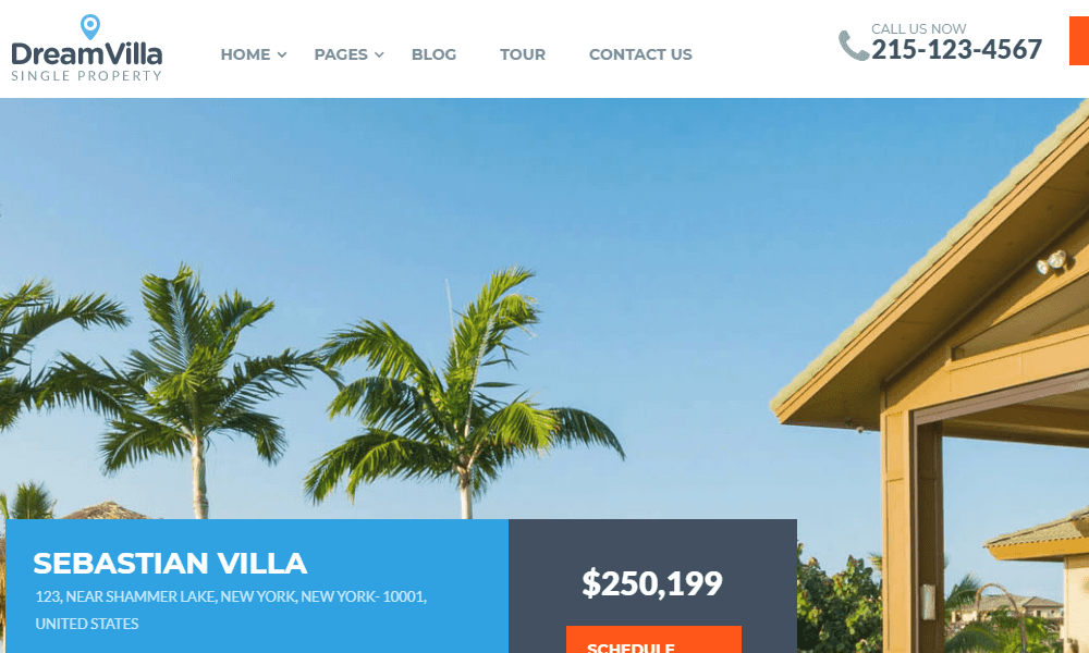 2Dream Villa WordPress Theme