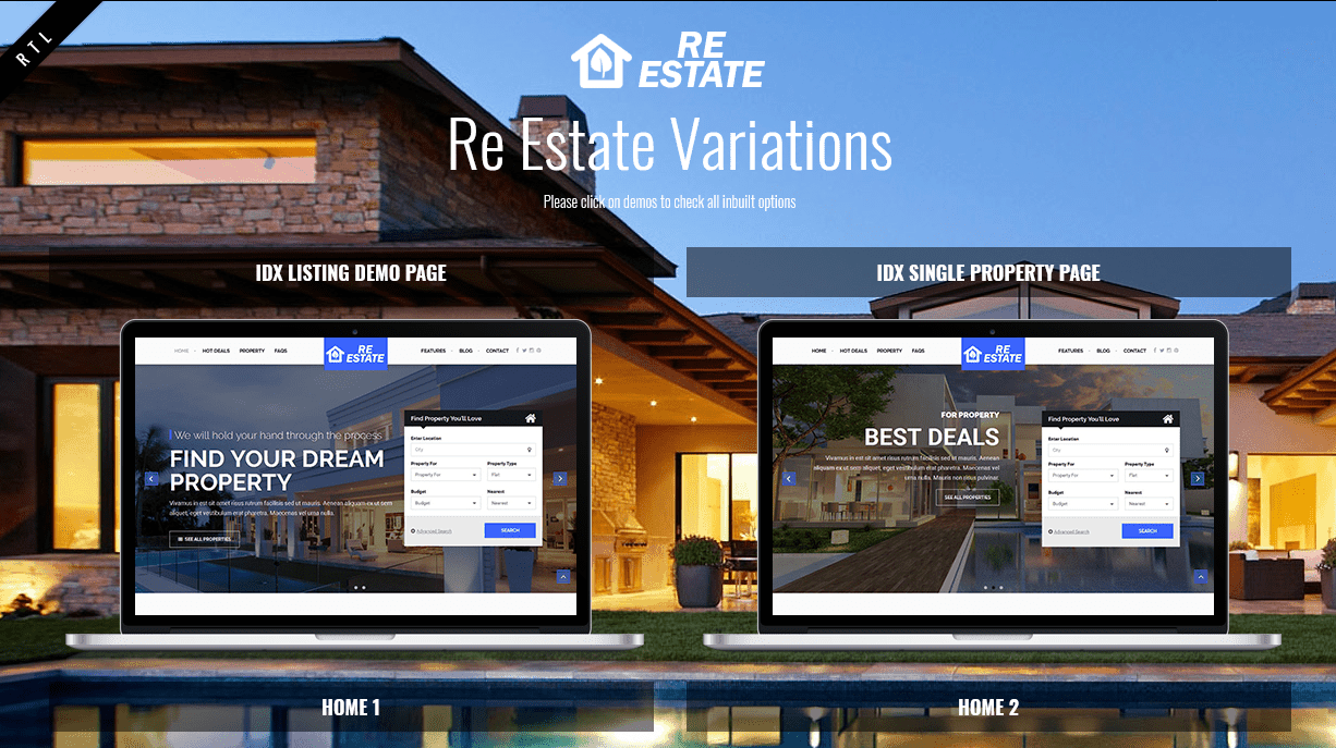 ReEstate Website Theme