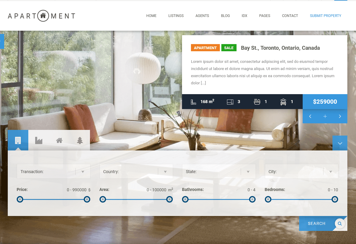 Apartment WP Real Estate Theme