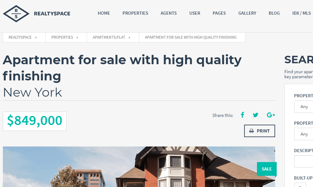 RealtySpace Website Theme