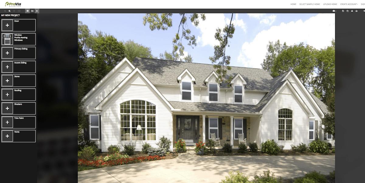 Provia Visualizer home exterior software