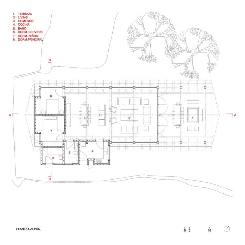 Rustic house floor plan
