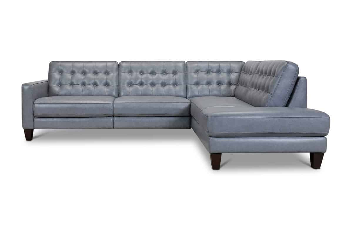 Toranado Leather Sectional with Power Foot Rest