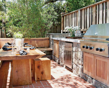 awesome outdoor kitchen on deck
