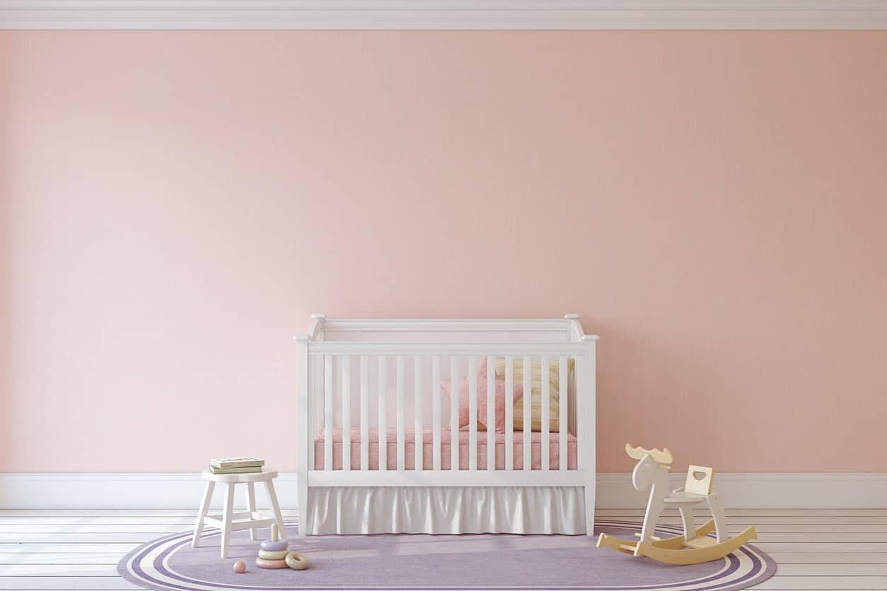 This minimalist nursery room looks so peaceful. It has enough playing room space for your little one. The hardwood flooring looks nice as well.