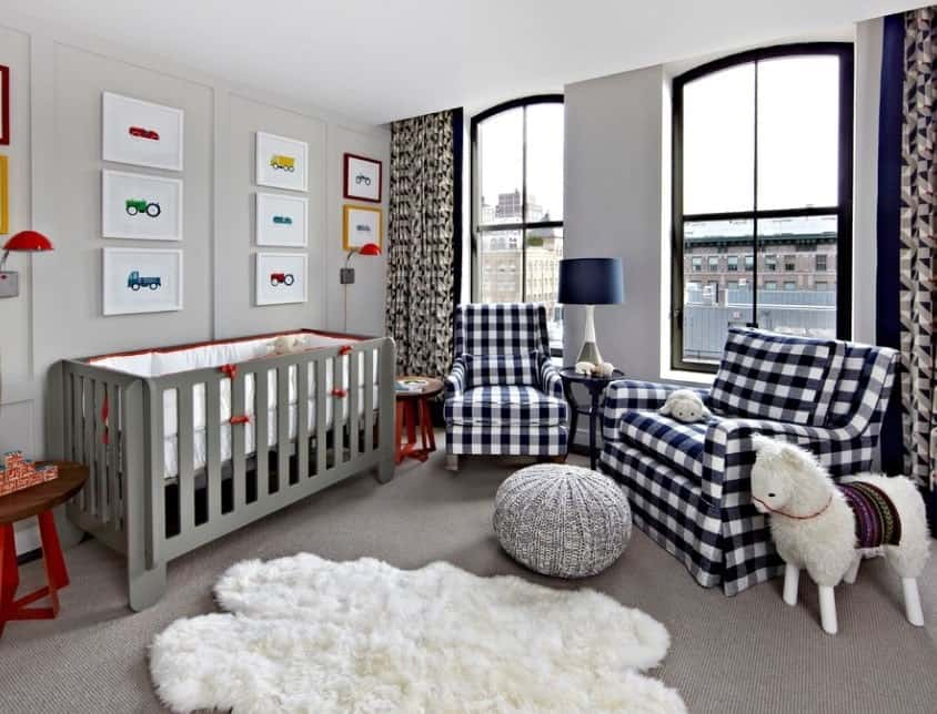 Who Says A Baby Boy Nursery Needs To Be Blue This Room Uses An Ashy