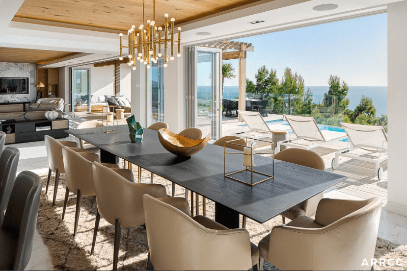 Open concept dining room by ARRCC
