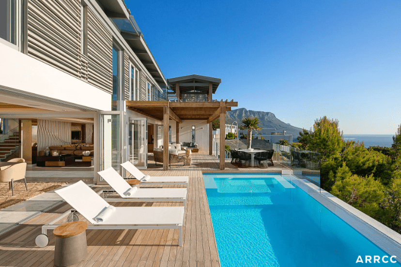 Swimming pool and deck by ARRCC