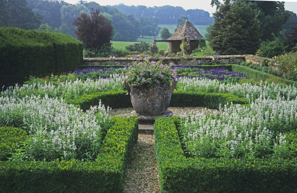Knot garden in countryside - beautiful setting
