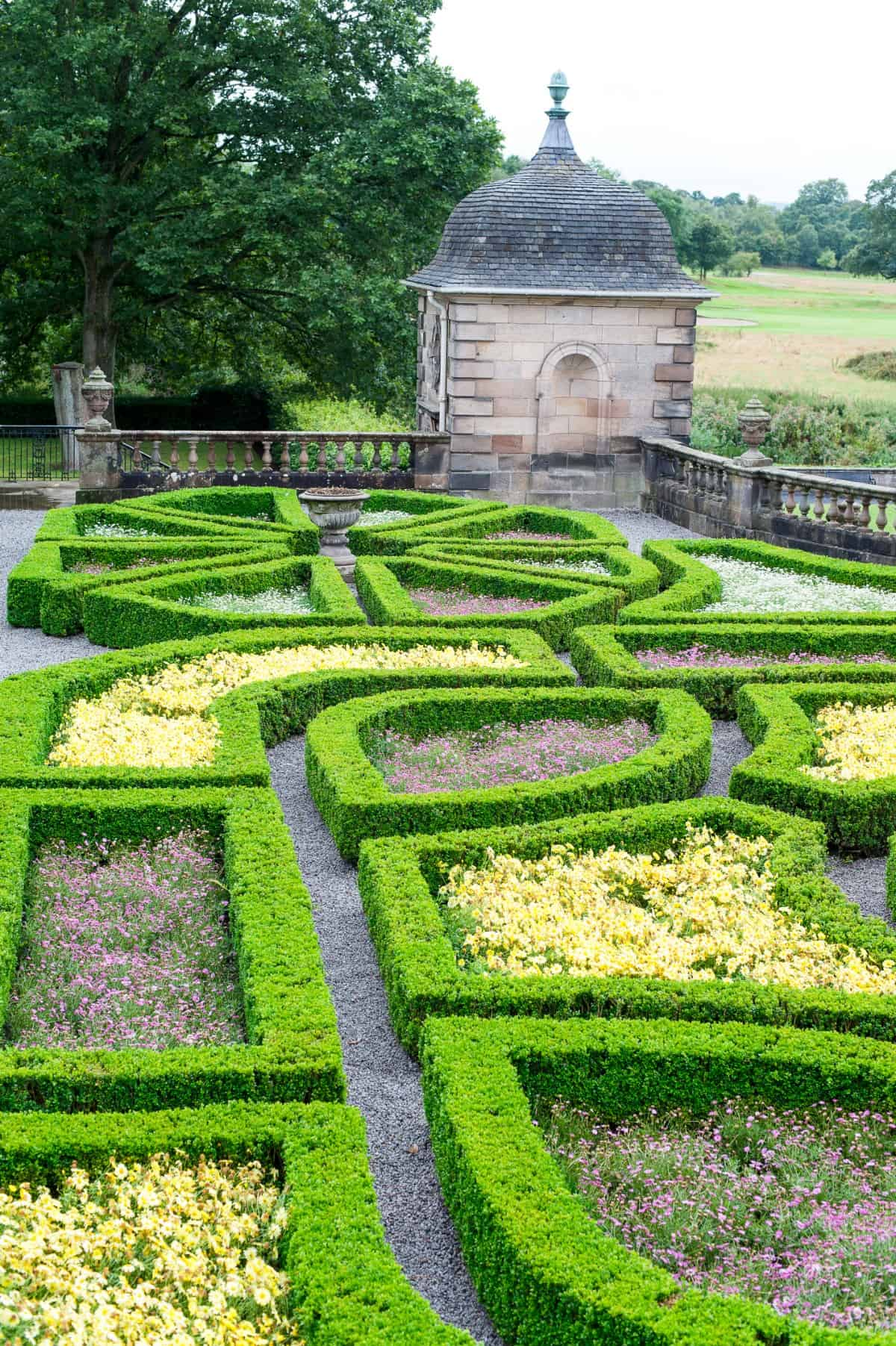 Intricate shapes in knot garden