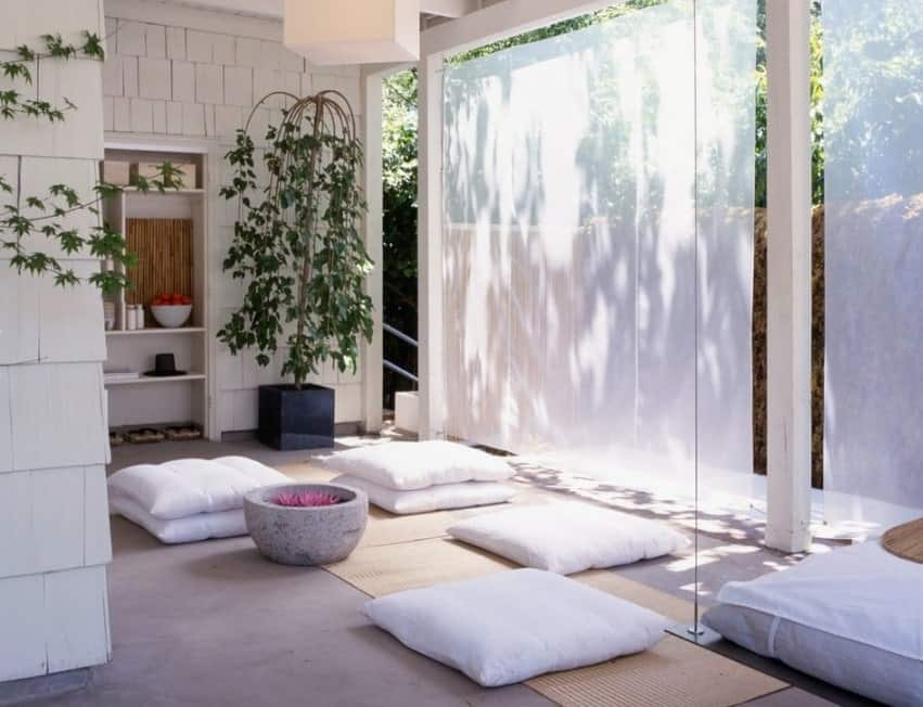 If you have a family that is big on yoga and meditation, make sure that the gym is next to big windows. Paint the walls white since it gives off good energy.