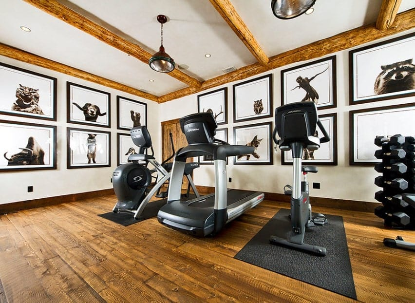 You don't have to just stare at plain walls while you are doing some cardio. You can decorate your home gym with some interesting paintings, photographs, or posters.