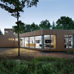 Cool minimalist wood and glass house