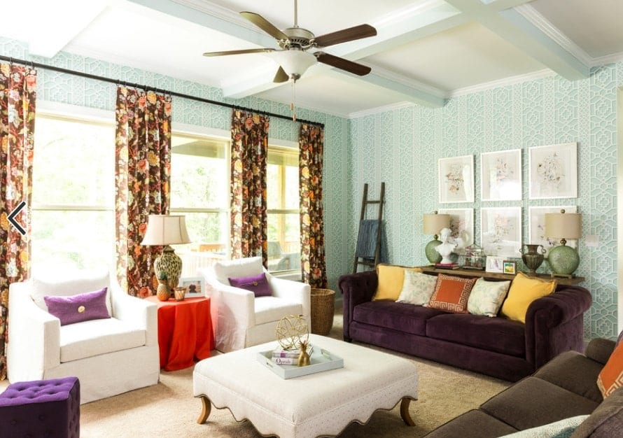 Colorful living rooms are a definite sign of life and happiness. And if you want your living room to exude such positive feelings then this is the kind of living room that you will like to replicate.