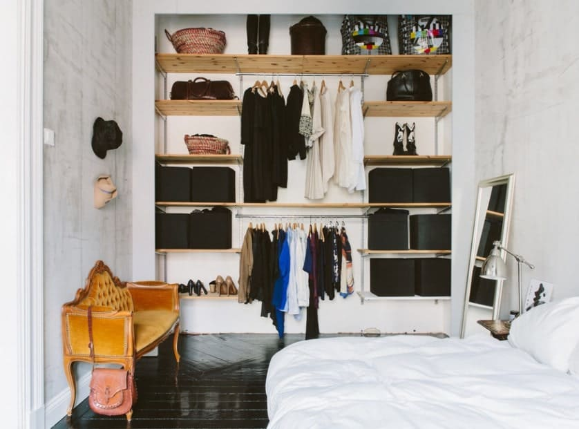 Narrow Closet Organization Bedroom