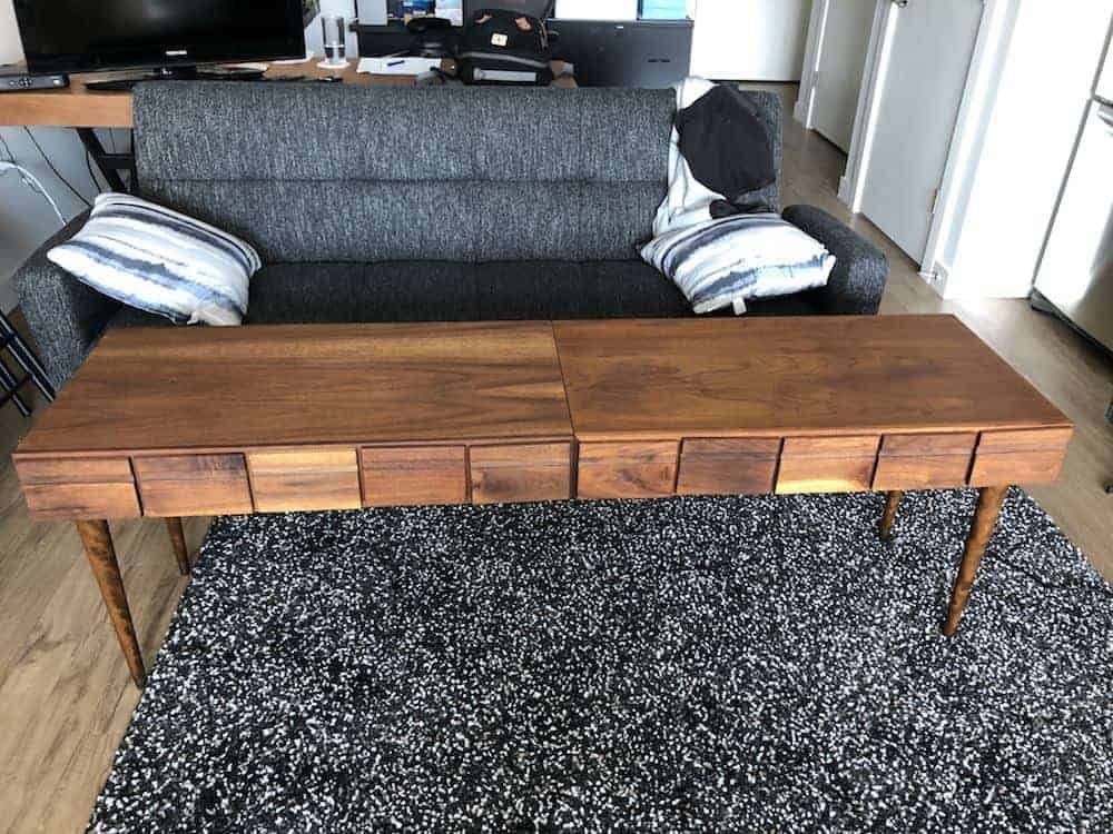 Refurbished TV stand table