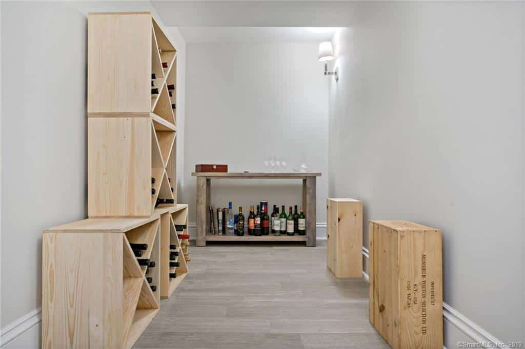 There's also a small extra room that is serving as a DIY wine cellar.