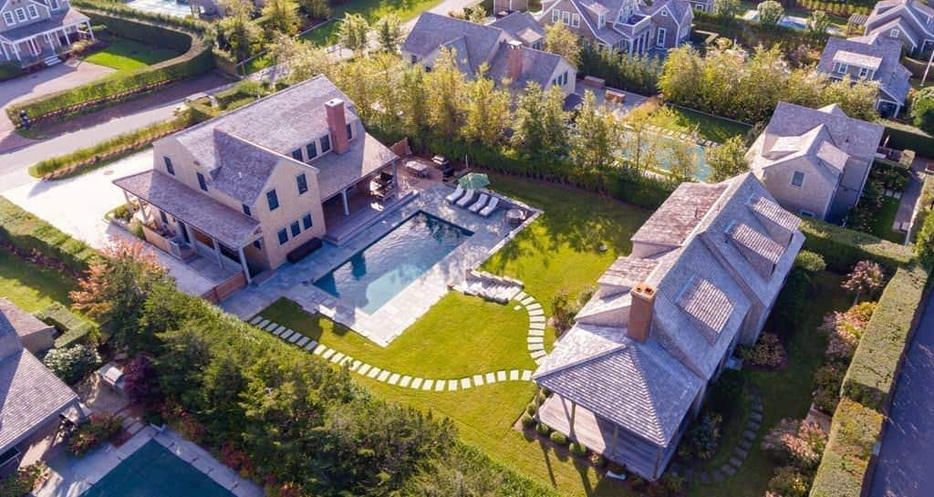 Compound estate with pool on one-half acre in Nantucket