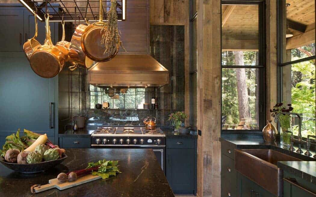 Check out that large industrial sink in the kitchen.
