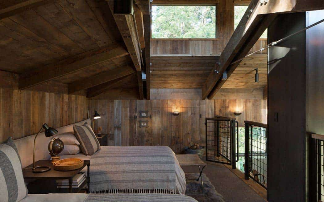 The home has a fantastic loft bedroom big enough for two double beds. This loft area is accessed with a ladder. Kids would love this.