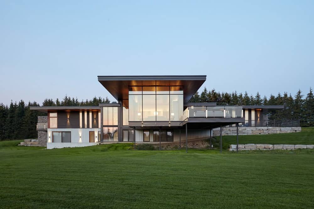 Large modern home on huge grassy property
