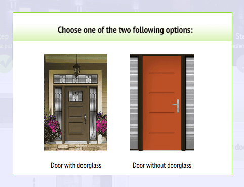 Choose door Novatech front door design software