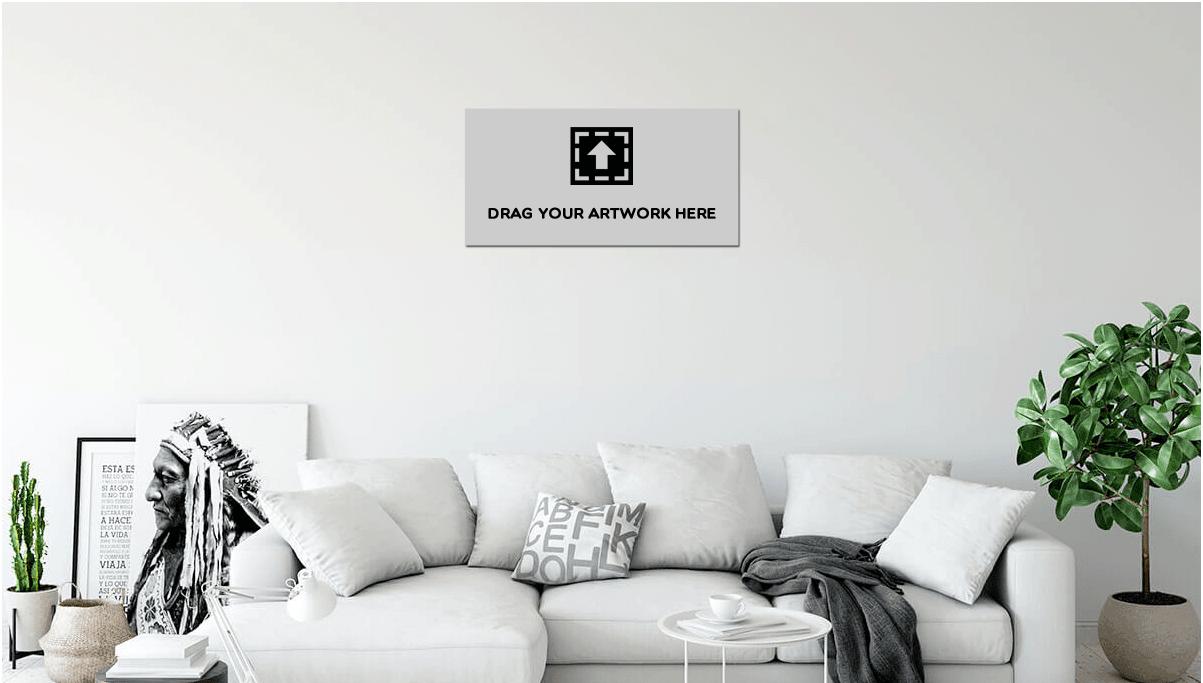 Ohmyprints example living room wall