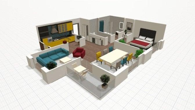 3D floor plan design from floor plan software