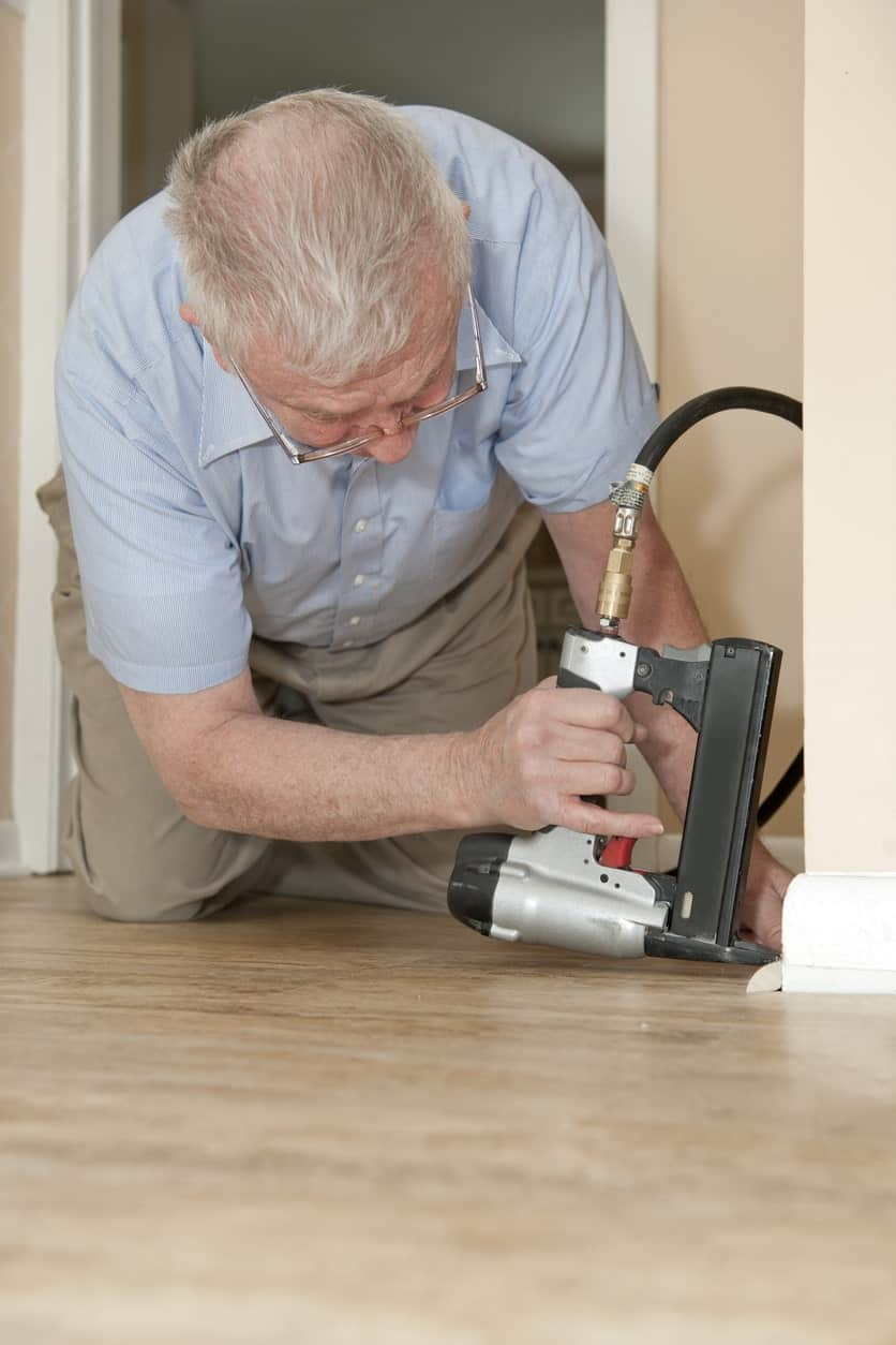 Electric Staple Gun being used in the home