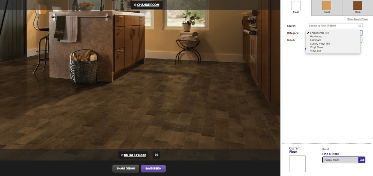 Armstrong Flooring Visualizer and software