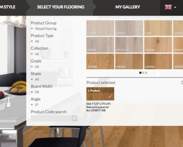 Floor sync floor visualizer flooring selection