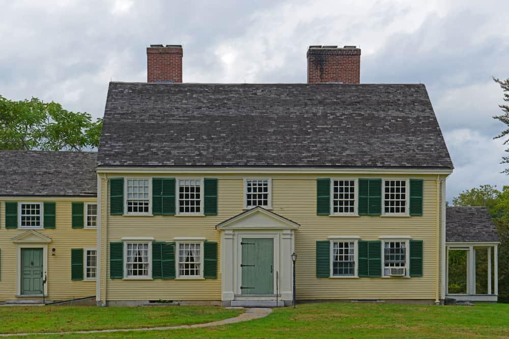 Historic Major John Buttrick House in Minute Man National Historical Park, Concord, Massachusetts, USA