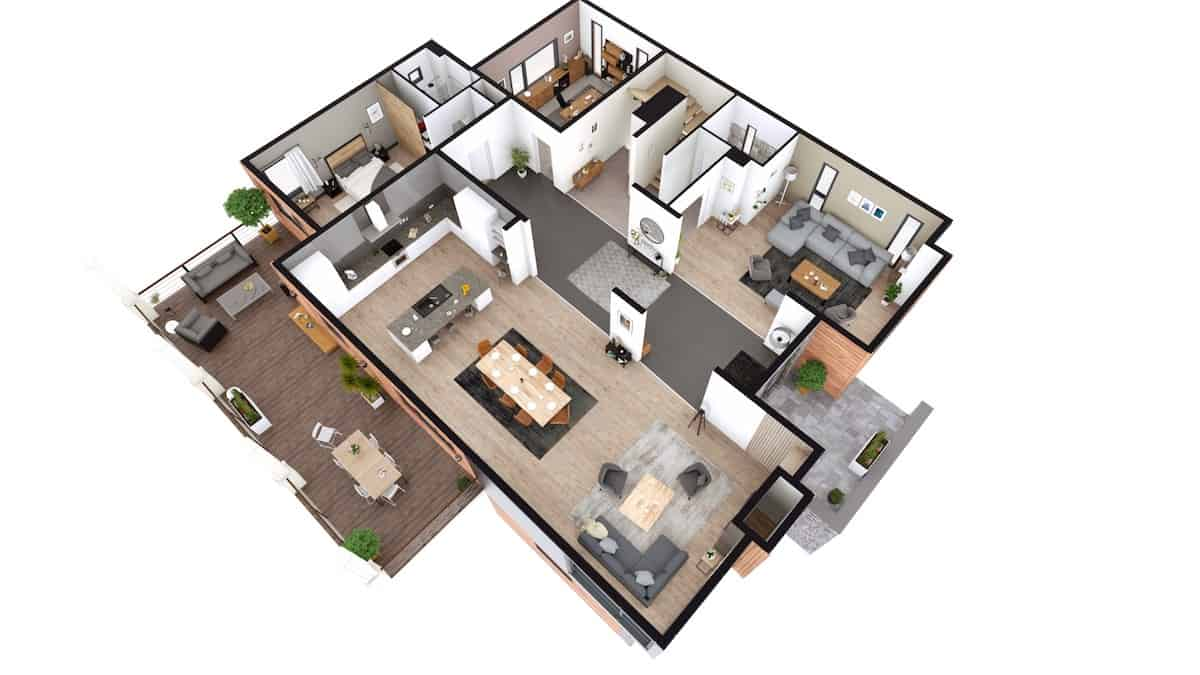 Cedreo software 3D home design example