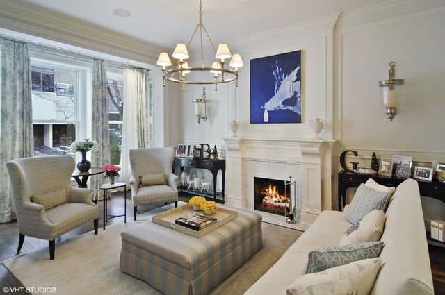 The luxury living room in a Chicago Townhouse