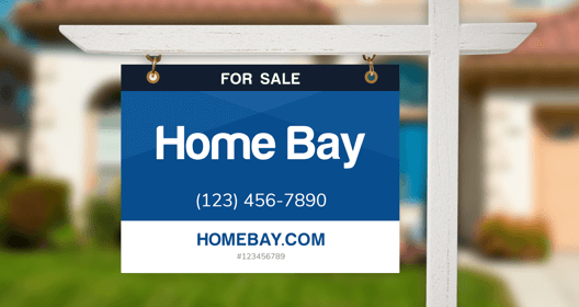 home bay for sale sign example