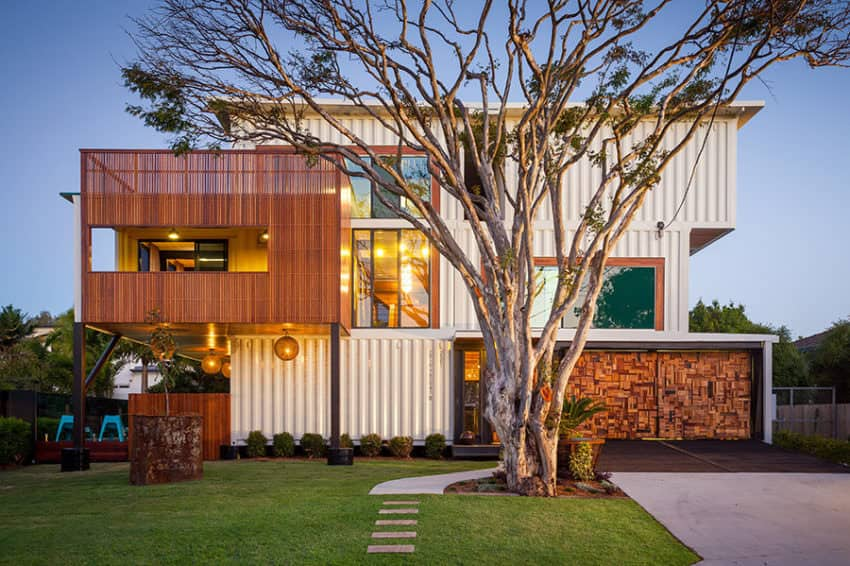 Large luxury shipping container home by ZieglerBuild