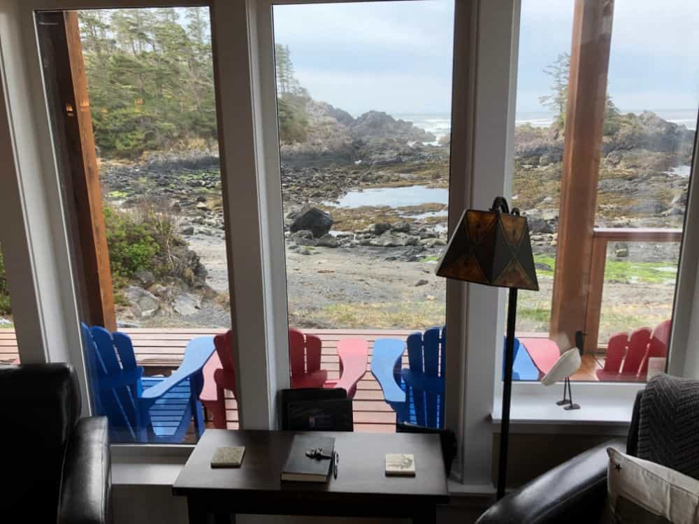 Here's a view of the ocean from the reading room.