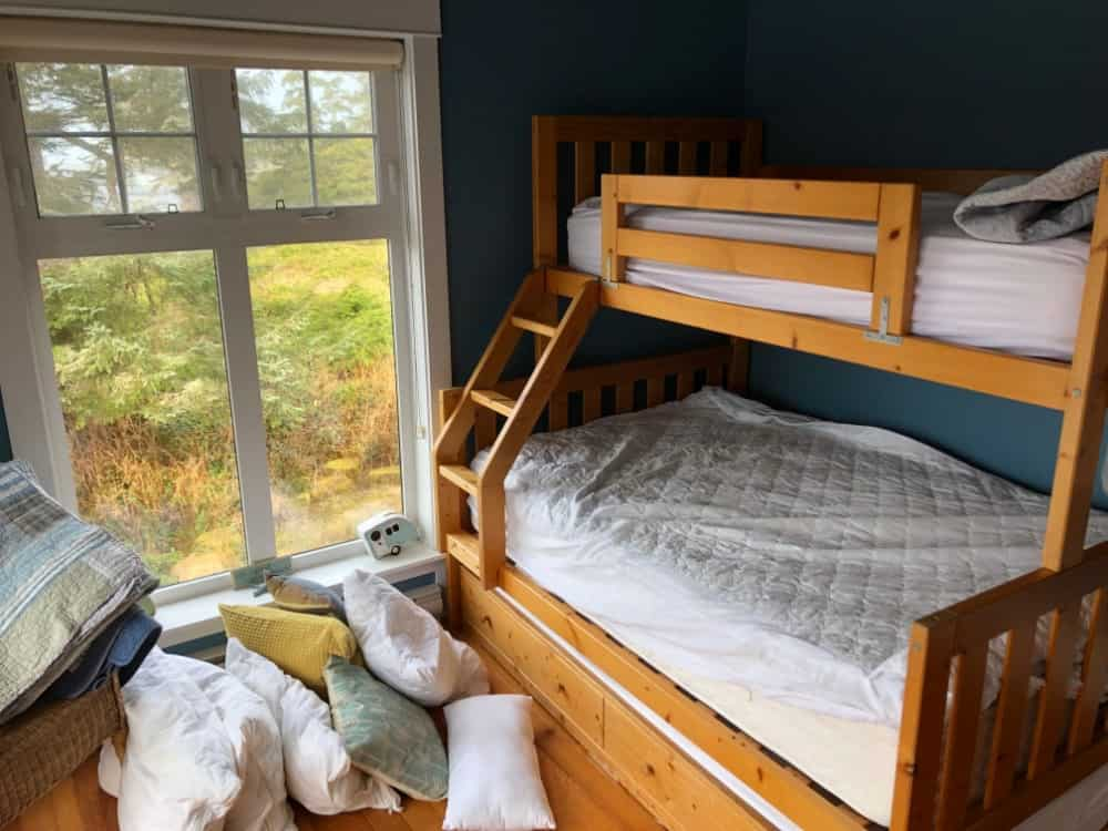 The third bedroom included a bunk bed with trundle bed below. This one bunk bed could accommodate 4 people.