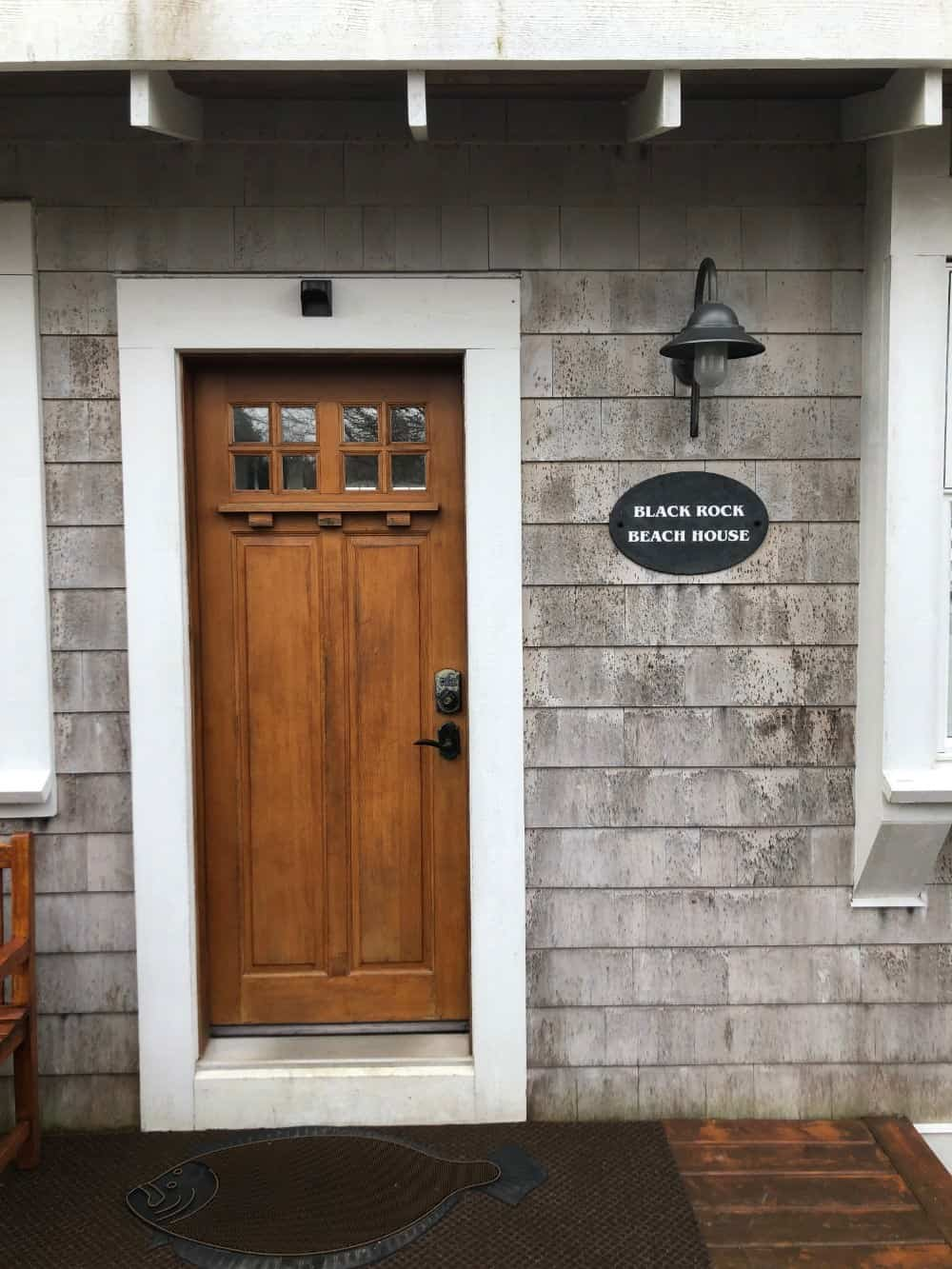 As you can see this house has an attractive wood shingle siding. This is a main entrance to the unit we stayed in.