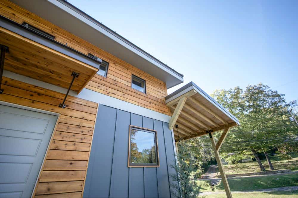 Eastern cedar siding accents
