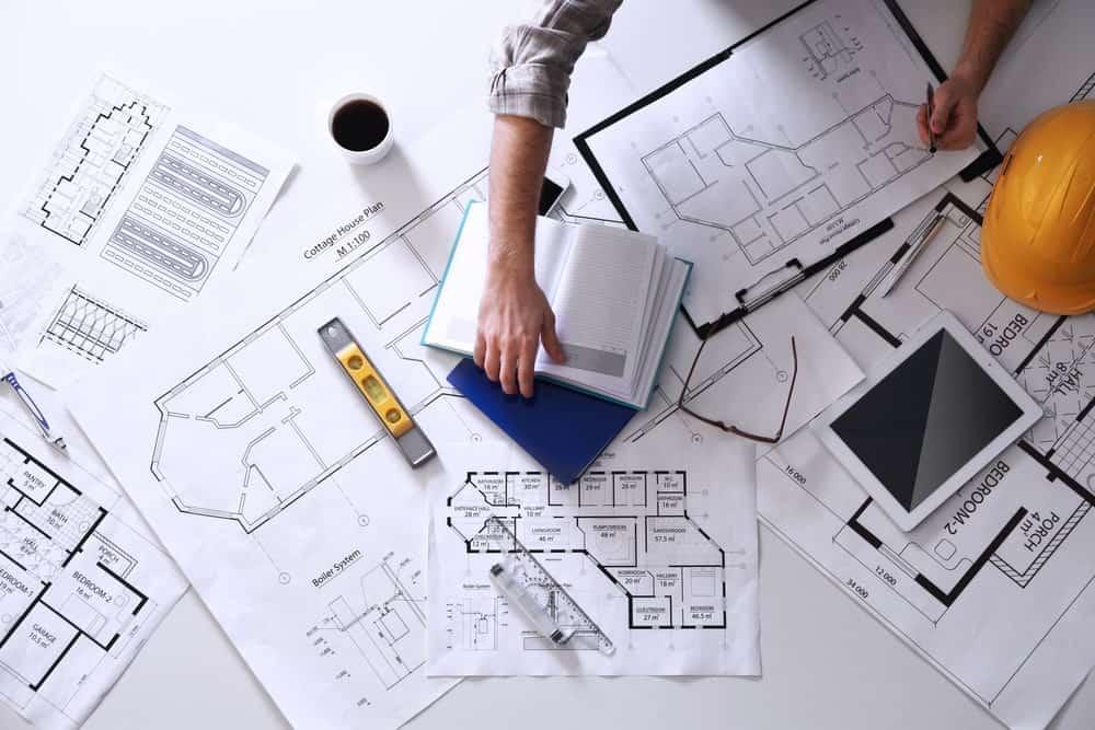 An architect on job