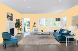 Beige living room - RGB: R248G213B159