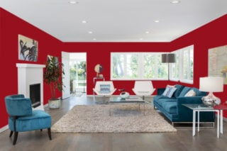 Red living room - RGB: R150G16B29