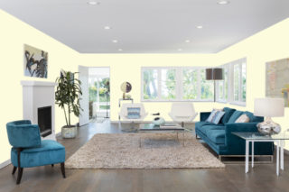 Cream living room - RGB: R253G251B222