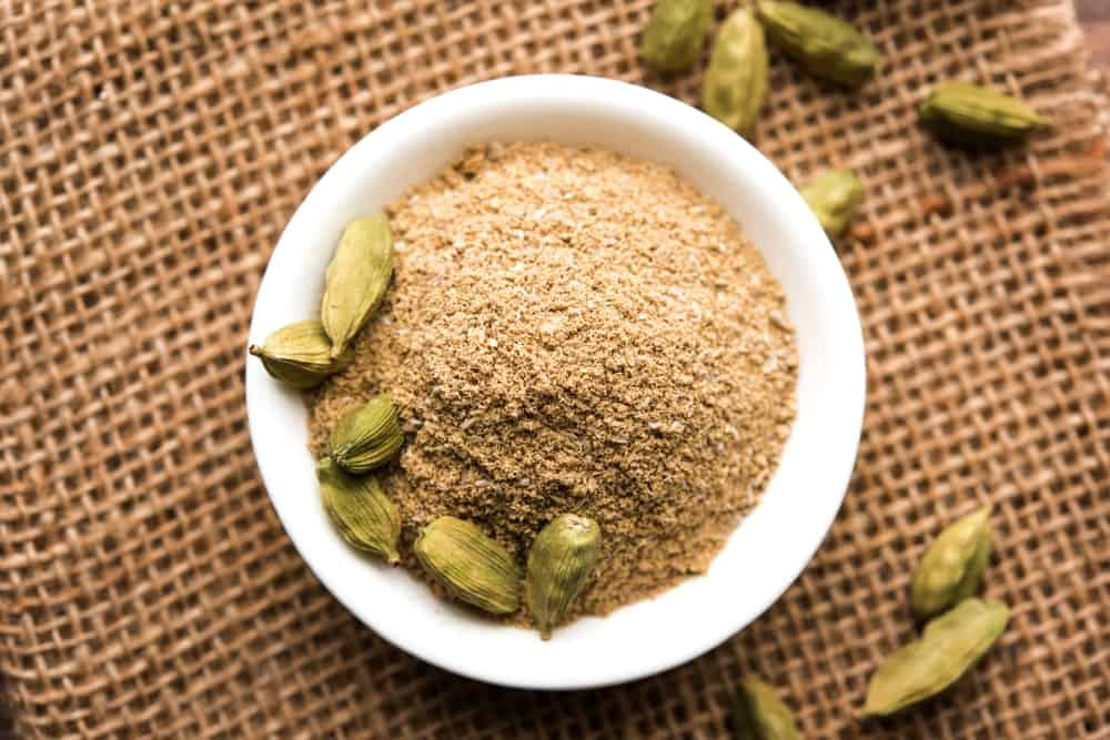 A Bowl of Cardamom Powder