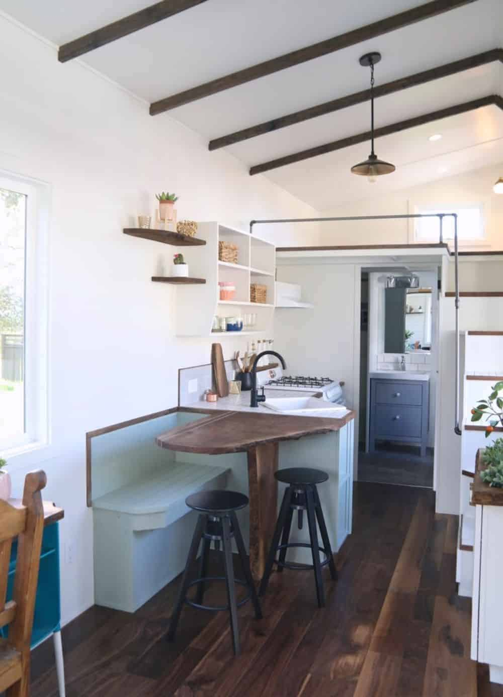 Tiny house kitchen with dinette